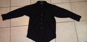 Black button up shirt